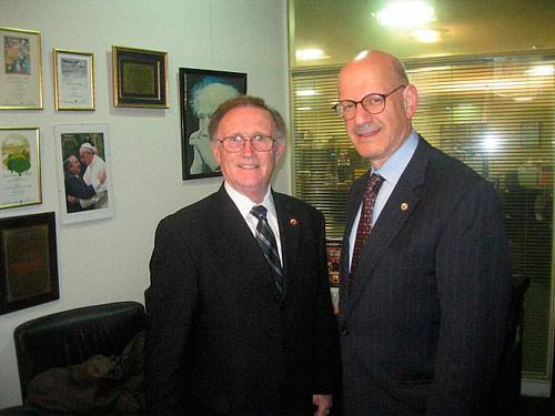 Allan Jacobs, presidente da B'nai B'rith Internacional e o vice-presidente executivo Daniel S. Mariaschin