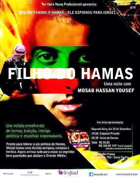Filho do Hamas fará palestra em São Paulo