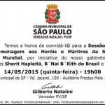 Câmara Municipal, Sherit Hapleitá B'nai B'rith e Unibes homenageiam Heróis e Mártires da 2ª. Guerra