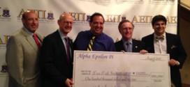 B'nai B'rith recebe doação de da Fraternidade AEPI para o Fundo de Desastres