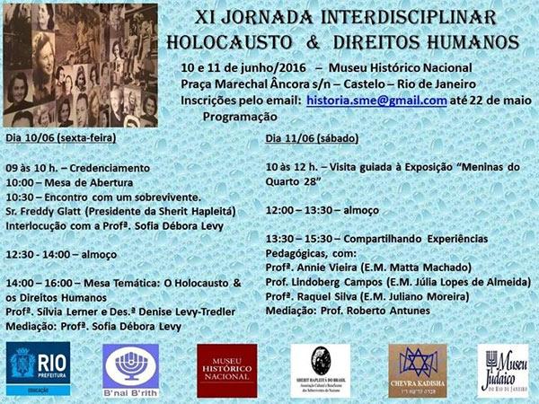 Jornada Interdisciplinar sobre Holocausto e Direitos Humanos